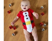 Santa Christmas onesie, Christmas onesie, Santa Onesie, First Christmas Shirt, Santa Outfit, Boy or Girl Onesie, Holiday Outfit