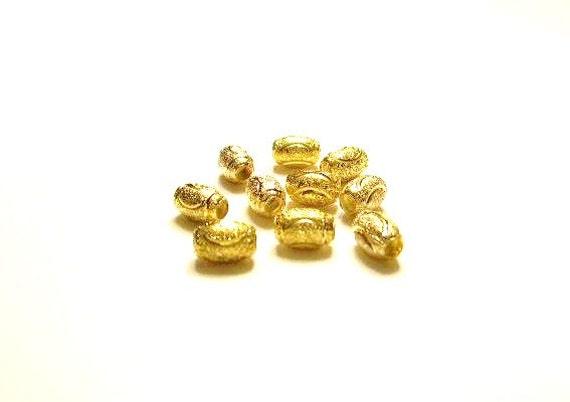 10 Gold Beads  - Pandora Charm Bracelet ADD ON