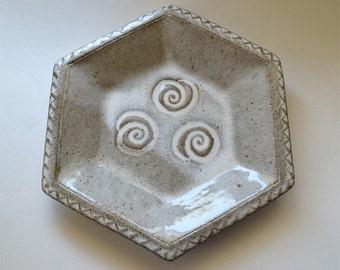 Stoneware Baking and Serving Dish 6 Sided Southwest Swirls