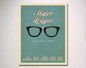 "Major League Minimalist Movie Poster 11"" x 14"" Print"