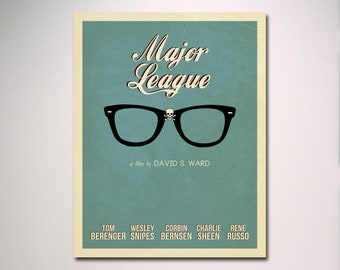 Major League Minimalist Movie Poster / Multiple Sizes Available
