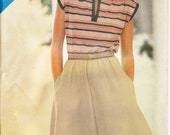 1980's sewing pattern Butterick See & Sew 3800 misses dress size 8-10-12