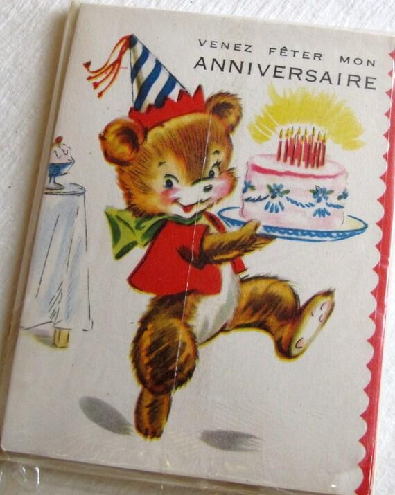 Cartes D'invitation Anniversaire d'enfant Vintage Invitations (5)