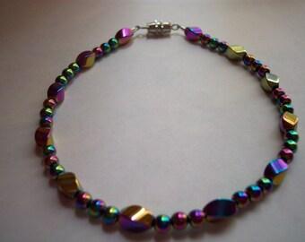 Magnetic Anklet Rainbow Twist Bead