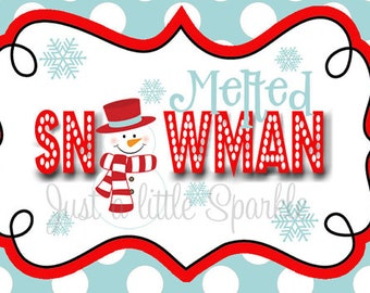 melted snowman labels black and white images galleries with a bite. Black Bedroom Furniture Sets. Home Design Ideas