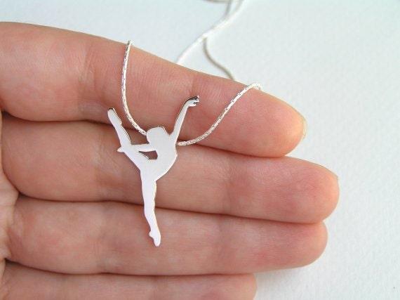 Dancer necklace pendant ballerina necklace ballet dancer description sterling silver dancer necklace pendant mozeypictures Image collections
