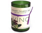 Lavender Cucumber Sage Soy Candle - Cut Wine Bottle - 12 oz. - Signature Collection