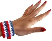 50 % OFF - CLEARANCE SALE - Handmade Bracelet - Patriotic