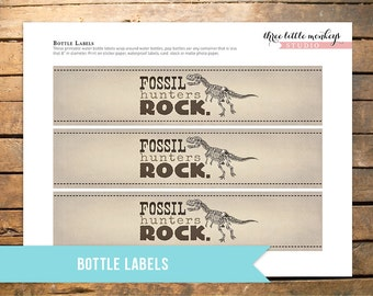 Fossil Hunter Bottle Labels