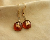 Amber Cowboy Dangle Earrings