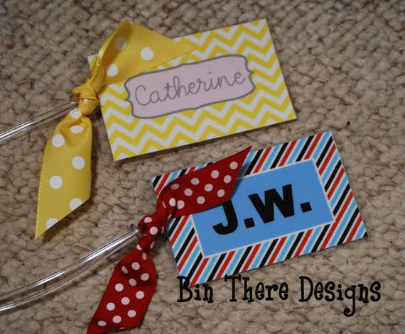 Custom Luggage Tag Personalized Laminated Bag Tag Diaper Bag Tag - Design Your Own