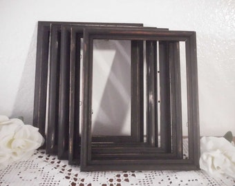Rustic Black Frame 8 x 10 Shabby Chic Wedding Decor Distressed Upcycled Vintage Pick Your Own Photo Picture Decoration Paris Home Decor