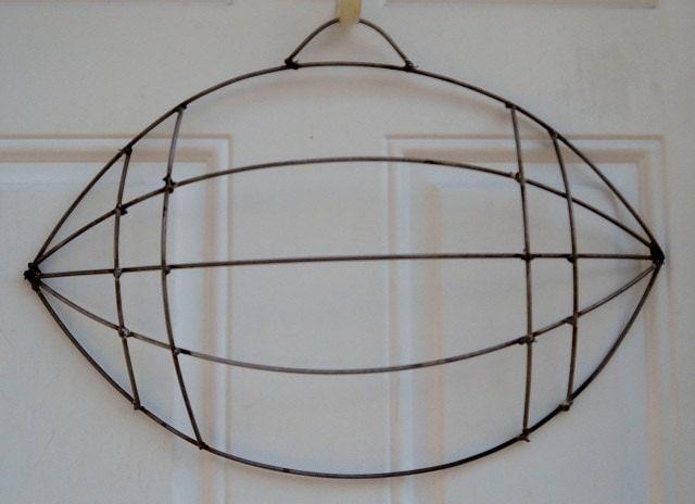 Football Wire Wreath Form By Dottiedot05 On Etsy