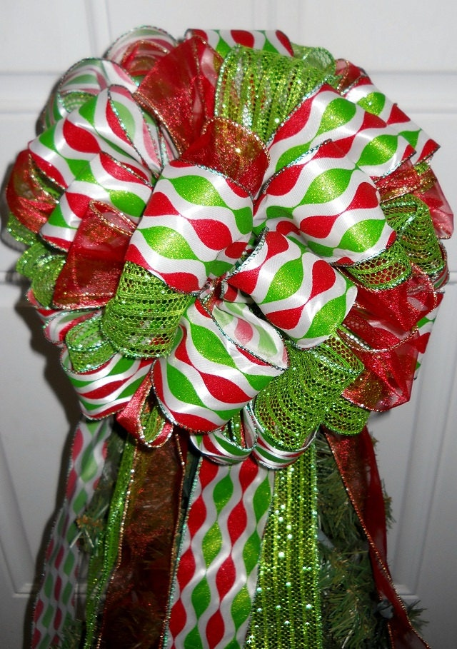 Christmas Ribbon Tree Topper