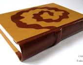 Journal Wood and Leather, Blank Book, Unique Brown Leather Boxwood and Ukola Wood. SOMNIA