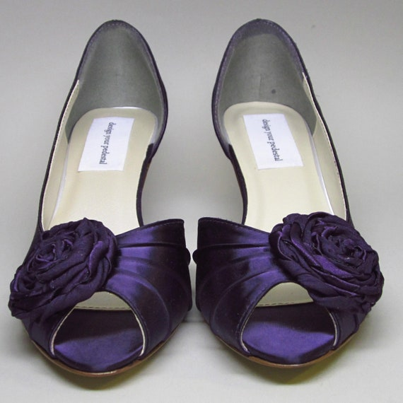Items Similar To Wedding Shoes -- Royal Purple Satin
