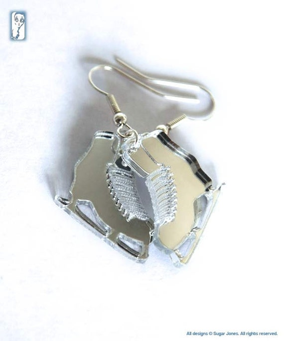 Ice Skate Earrings - Ice Skating - Made in England