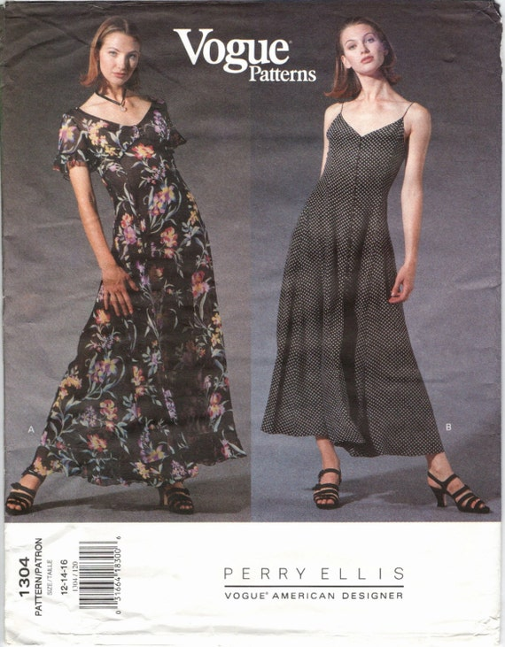 1990s grunge Marc Jacobs for Perry Ellis dress pattern - Vogue 1304