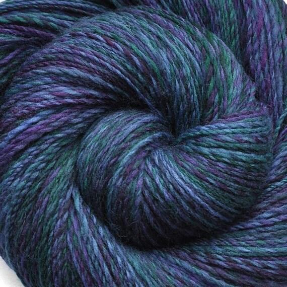 SALE - Handspun yarn - Dusk Light - Handpainted Superwash wool, DK weight. 440 yds.
