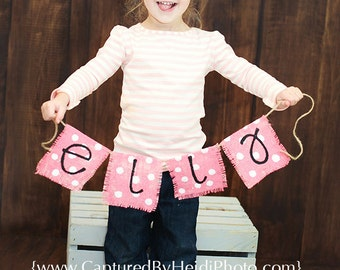 Burlap Name Banner - Baby - Photo Prop