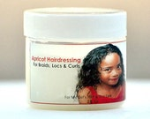 OUT OF STOCK -Apricot Hairdressing for Braids, Locs & Curls - 4oz