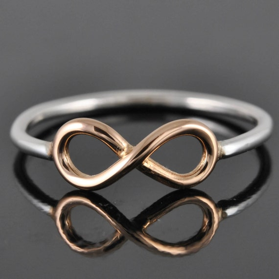 Infinity Ring in Gold, infinity knot ring, sterling silver ring, best friend ring, promise ring, friendship ring, sisters, Bridesmaid gift