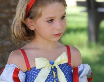 Disney princess Snow White inspired tutu costume/dress for Halloween, photoprop, Birthdays, Disney vacation or dress up
