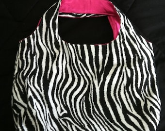 Zebra Print and Hot Pink Bag