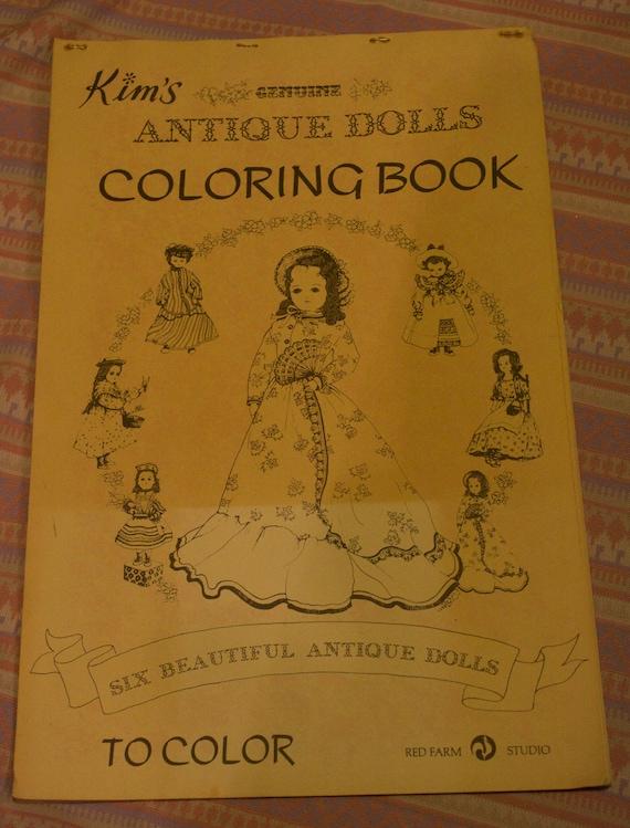 Doll Coloring Book Vintage Kim S Genuine Antique By Dianasore