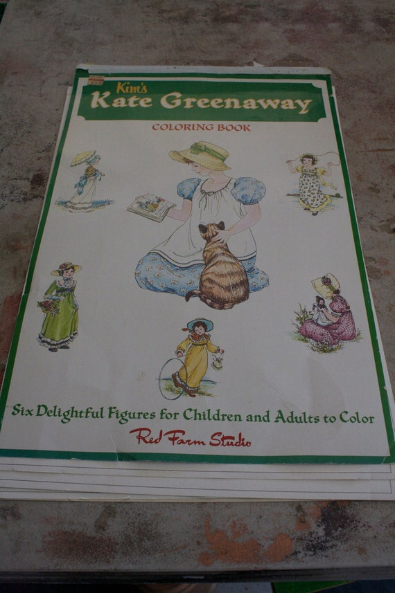 Vintage and Rare Kim s Kate Greenaway Coloring Book