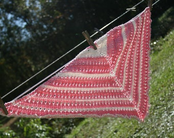Childs Shawl - Pink - Knitted