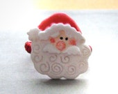 Santa Button Wire Wrapped Ring