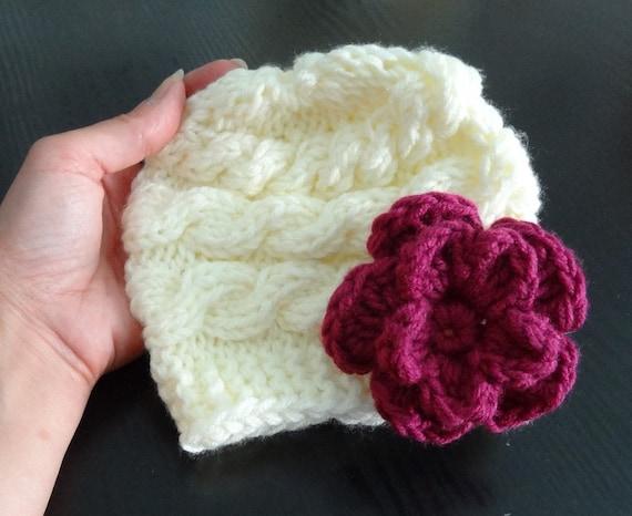 Baby Girl Hat, Knit baby beanie, Newborn Hat Photo Prop, Baby Knit Hat Girl Knit Hat, Infant Hat Newborn Baby Girl Hat, Newborn girl Hat,