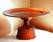 Autumn Weddings - Cake Stand in Burnt Orange / Cake Pedestal for Rustic Weddings / Apple Pie Stand / Pie Dish / Autumn Inspired Fall Wedding - TheRocheStudio