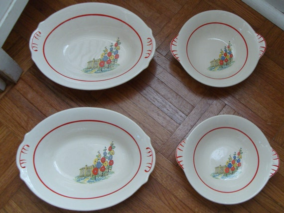 1936 Paden City Pottery Dishes