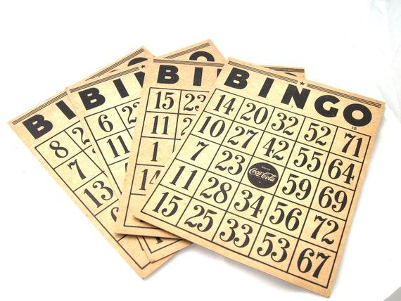 Colabingo: 1940s 50s Coca Cola Bingo Cards By Yesteryearessentials On