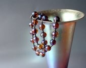 WMF MYRA GLASS Long Necklace Iridescent German Art Deco Extremely Rare Kristall