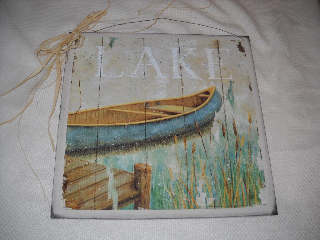 Items Similar To Lake Canoes Fishing Lodge Boating Decor