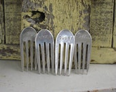 Cheese Markers - Upcycled Vintage Silverplate Forks HOSTESS GIFT idea (00269-LV)