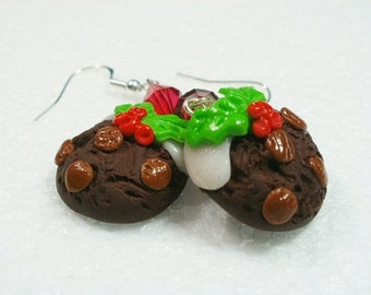 Christmas Cookie Earrings. Polymer Clay.
