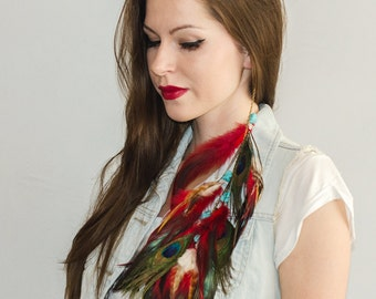 Feather Hair Extension - Ruby River