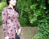 SALE Vintage 1970s Disco Shirt //  HUK.A.POO // Out of Africa