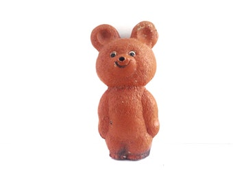 Rare BEAR toy, his name is Misha. Use for shadow boxes, mixed media art or as a friend.