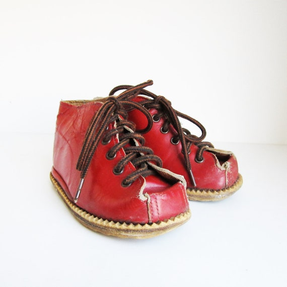 VINTAGE baby boots, wear it, use it for shadow boxes, home decor...