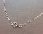 "10 pcs Chain Finished Necklace Sterling Silver .925 Cable Chain Spring Clasp 1.3mm 16"" -  Bulk lot 10 pieces"