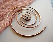 The Golden Spiral Earring  in 16g Copper Wire