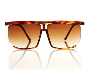 Karl Tortoise Square Aviator Sunglasses X American Deadstock