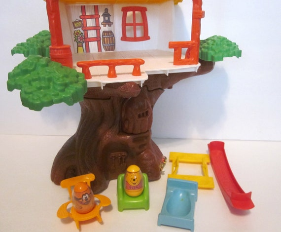 Vintage Winnie The Pooh Hunny Treehouse Weebles 1970s By