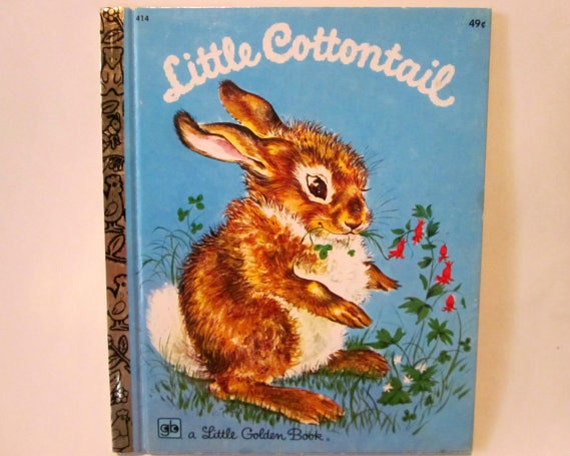 SALE 20% OFF, Vintage Little Cottontail, 1970s A Little Golden Book