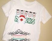 Santa Rocks Embroidered Shirt